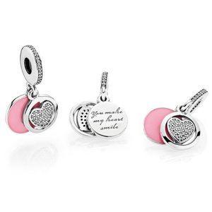 Pandora Devoted Heart Dangle Charm